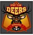 Deers - sport mascot team vector image