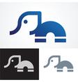 elephant symbol design vector image