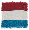 Flag of Luxembourg handmade square shape vector image
