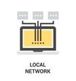 local area network vector image