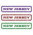 new jersey watermark stamp vector image