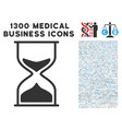 sand glass icon with 1300 medical business icons vector image