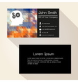 multicolor low polygon paper like business card vector image