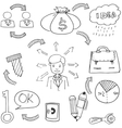 Doodle of Sketch business vector image