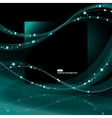 Abstract glowing waves background vector image