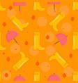 autumn stuff pattern vector image