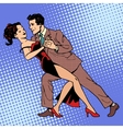 Man and woman dancing a waltz or tango vector image