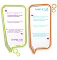 colorful speech frames vector image vector image