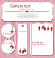card with rosehips vector image vector image