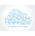 Cloud IOT Internet of Things Smart Home Quality vector image
