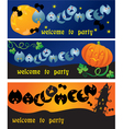 invitation cards to Halloween party vector image