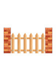 cartoon rural wooden fence vector image