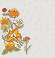 Flower border seamless texture with flowers Use as vector image
