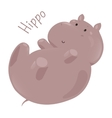 Hippo isolated Child fun pattern icon vector image