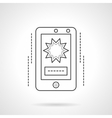 Mobile video flat line icon vector image