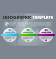 modern infographics with colorful circle vector image