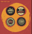 retro badges with grunge background vector image