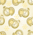 Seamless texture New Year watches vector image