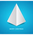 Christmas tree from paper background vector image vector image