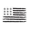 American flag grunge symbol celebration vector image