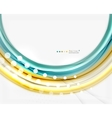 Abstract wave template vector image vector image