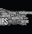 the irs vs mother nature text background word