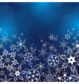 Winter background with ornate snowflakes vector image