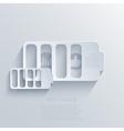 modern battery background Eps 10 vector image vector image