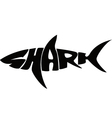 Shark typography vector image