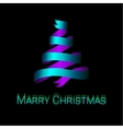 Modern abstract christmas tree background eps10 vector image
