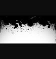 black splash on white background vector image