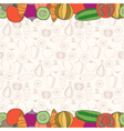 Decorative vegetables background with place vector image