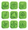 Eco labels vector image