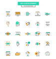 Flat Line Color Icons SEO and Development vector image