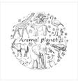 Hand drawn Save animal planet vector image