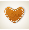 Happy valentines day cookie vector image