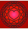 heart and swirls design vector image