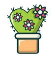 love cactus icon cartoon style vector image