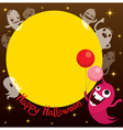 Monsters Cartoon Character On Circle Frame vector image