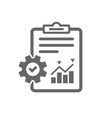 project management icon report document symbol vector image