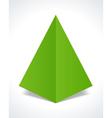 Christmas tree design element vector image