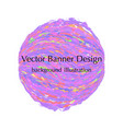 sphere banner design vector image