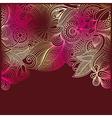 vintage ornamental template vector image vector image