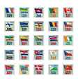 set of national stamps 02 vector image vector image