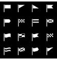 white flag icon set vector image