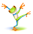 Tree frog dance Vector Image