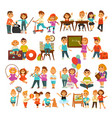 children in school or kindergarten outdoor vector image