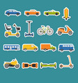 collection of transport icons vector image