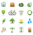 Green Ecology Icon Set vector image