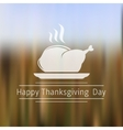Happy Thanksgiving Day blurred background vector image
